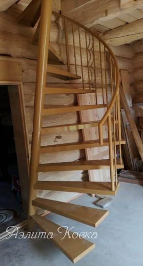 Лестница наклонно-винтовая