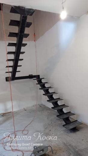 Лестница на монокосоуре с площадкой