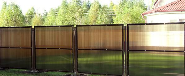Забор из поликарбоната Эконом