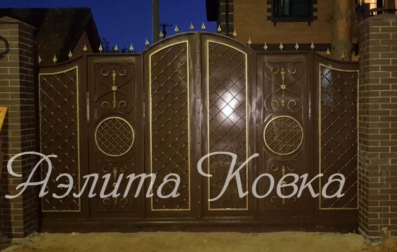 Ворота распашные г.Всеволожск